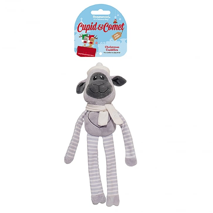 Rosewood Cupid & Comet Christmas Cuddlies Miles Monkey Dog Toy