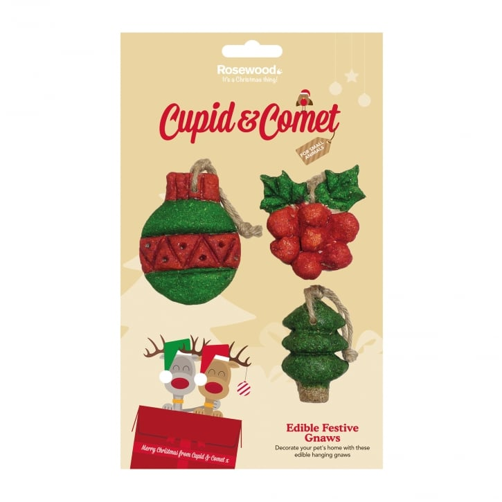 Rosewood Cupid & Comet Edible Festive Gnaws Pack 3