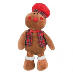 Rosewood Cupid & Comet Festive Gingerbread George Soft Plush Dog Toy