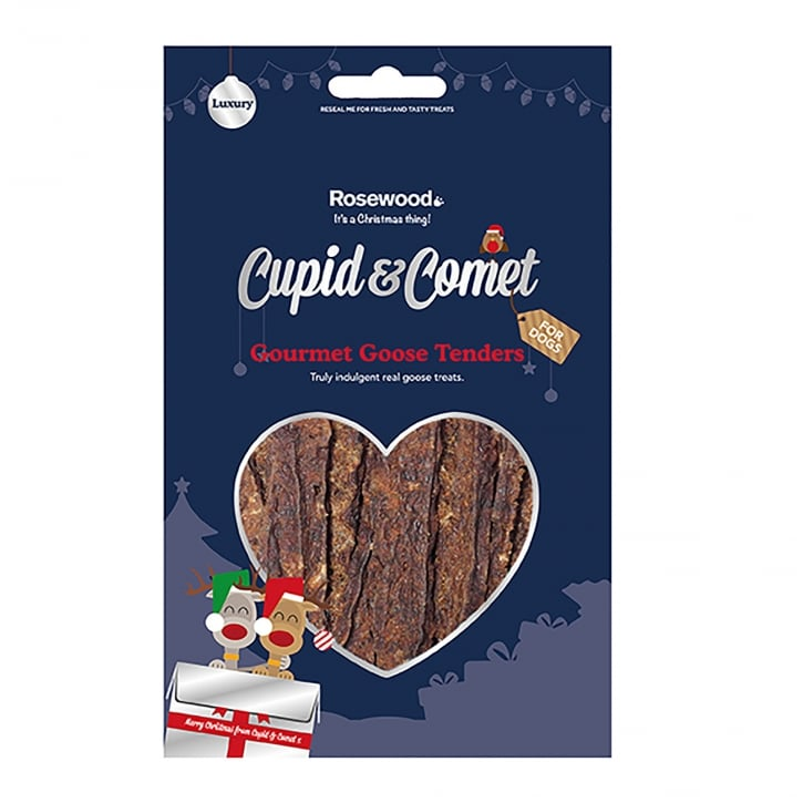 Rosewood Cupid & Comet Gourmet Goose Tenders Dog Treats 80g