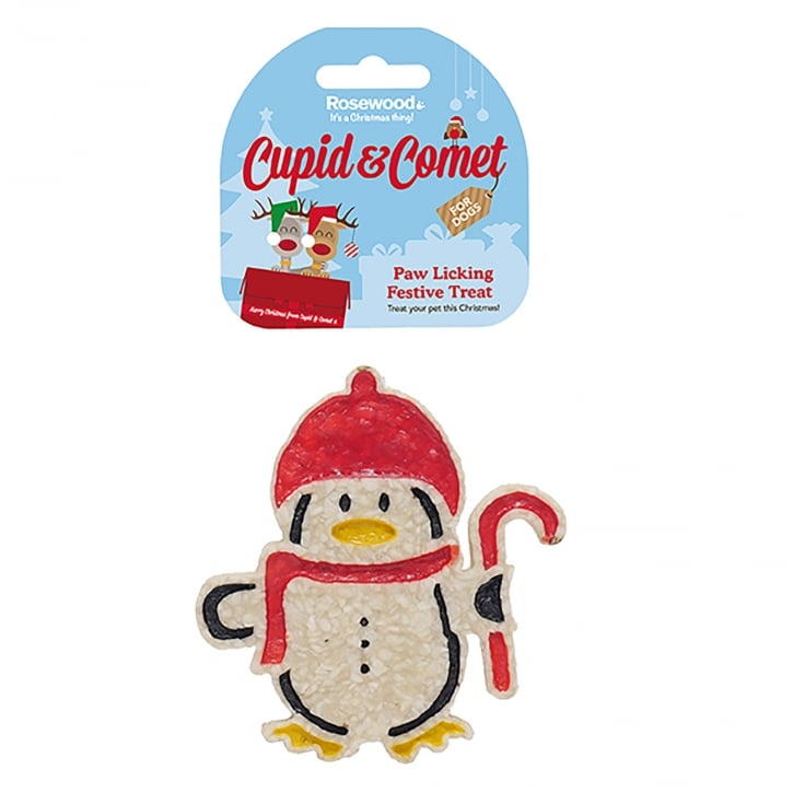Rosewood Cupid & Comet Paw Licking Festive Penguin Treat For Dogs