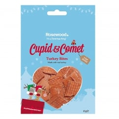Cupid & Comet Turkey Bites for Dogs 40g