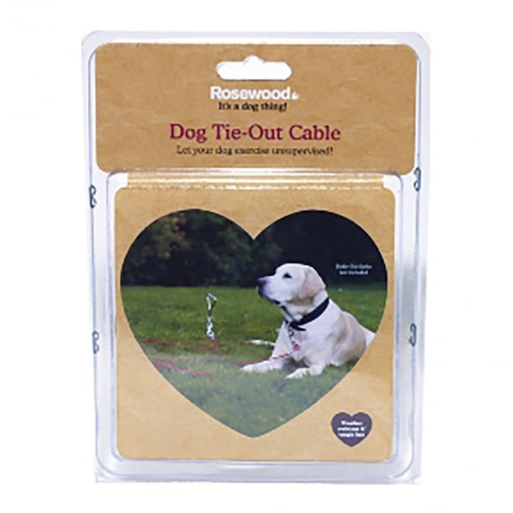 Rosewood Dog Tie Out Cable 15'