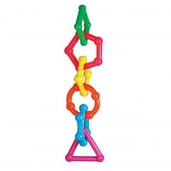 Geometrix Parrot Toy Vinyl Solid Chain