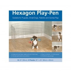 Rosewood Hexagon Play Pen For Puppies & Small Animals 6 x 63 x 63cm Panels
