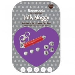 Jolly Moggy Festive 5 in 1 Laser Cat Toy