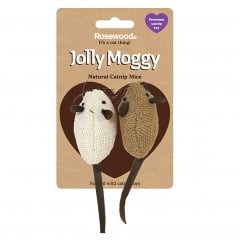 Jolly Moggy Natural Catnip Mice Pack 2