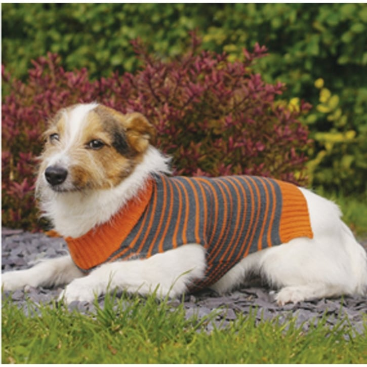 Rosewood Knitted Stripe Dog Sweater Large