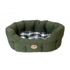"Rosewood 40 Winks Country Green Oval Sleeper 24""/60cm Dog Bed"