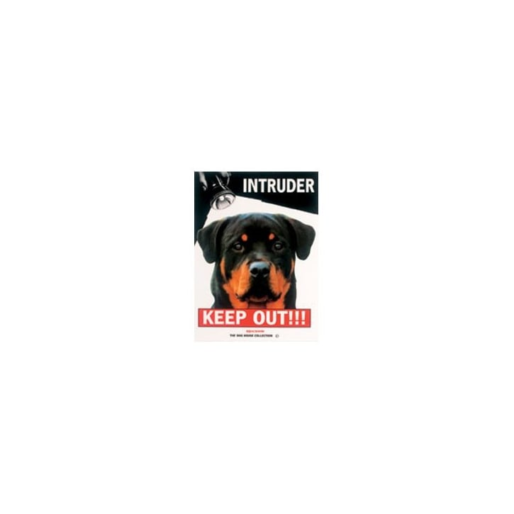 Rosewood Beware Intruder Keep Out Rottweiller Dog