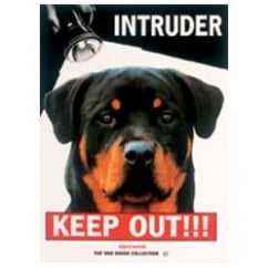 Beware Intruder Keep Out Rottweiller Dog