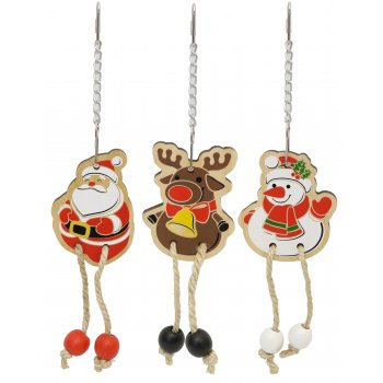 boredom breaker christmas woodies dangler small animal toy - Woodies Christmas Decorations