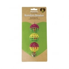 Rosewood Pet Products Boredom Breaker Lattice Bird Balls with Bell Pack 3