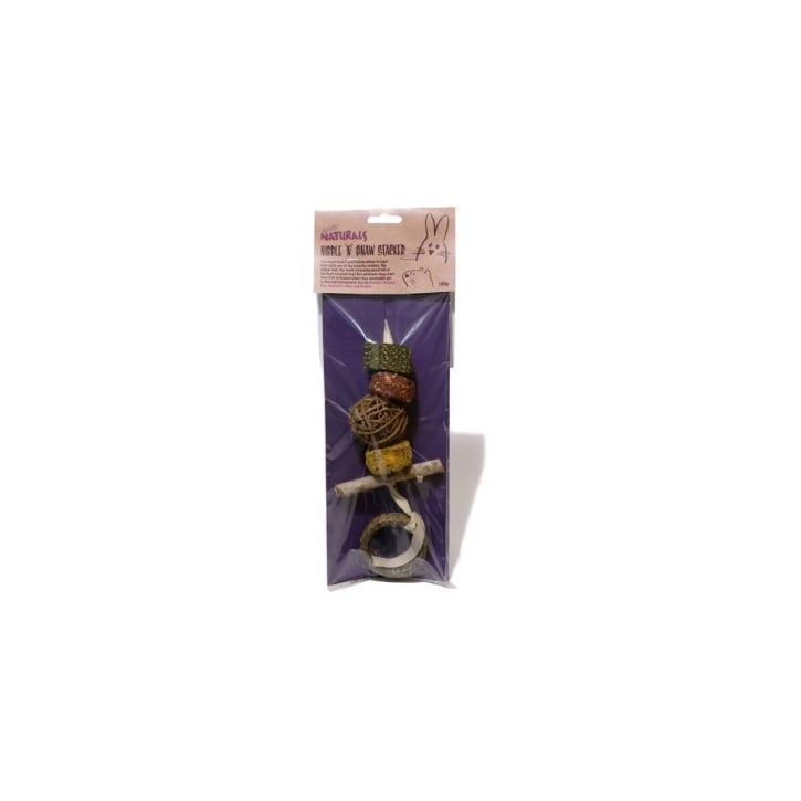 Rosewood Boredom Breaker Naturals Nibble 'N' Gnaw Stacker 100g
