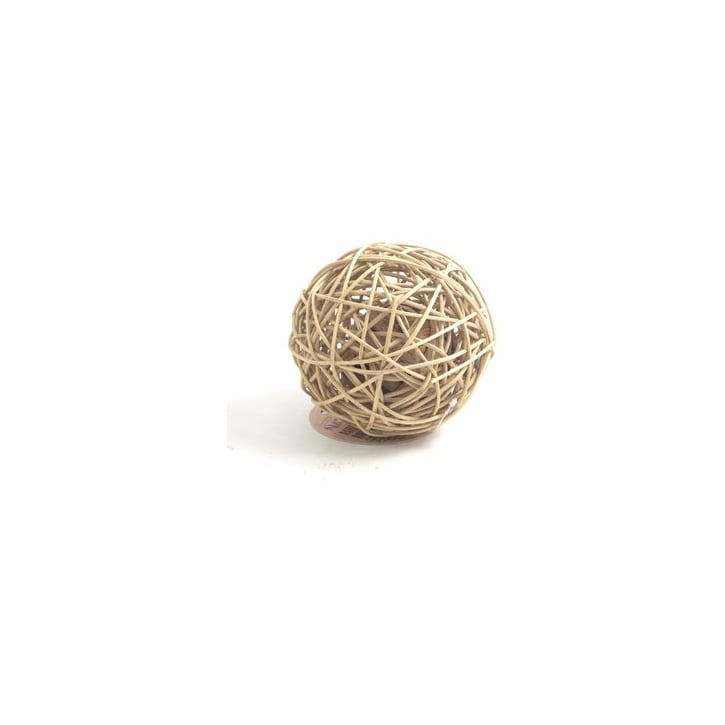 Rosewood Boredom Breaker Naturals Rattan Wobble Ball Large