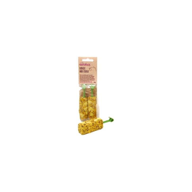 Rosewood Boredom Breaker Naturals Rodent Mini Sticks 80g