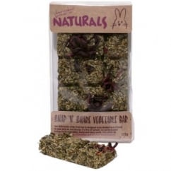 Rosewood Boredom Breaker Naturals Snap 'N' Share Vegetable Bar 125g