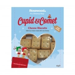Rosewood Cupid & Comet Cheese Biscuits for Dogs 40g