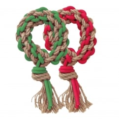 Rosewood Cupid & Comet Festive Woven Wreath Dog Toy