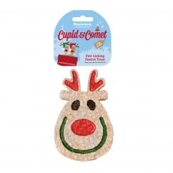 Rosewood Cupid & Comet Paw Licking Festive Reindeer Treat For Dogs