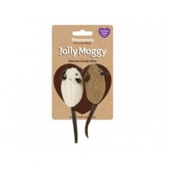 Rosewood Jolly Moggy Natural Catnip Mice Pack 2