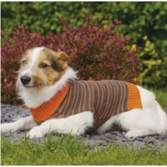 Knitted Stripe Dog Sweater Large
