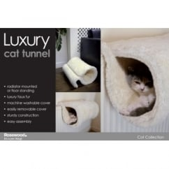 Rosewood Luxury Faux Fur Cat Tunnel