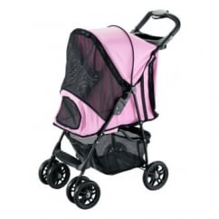 Rosewood Pet Gear Happy Trails Stroller Pink