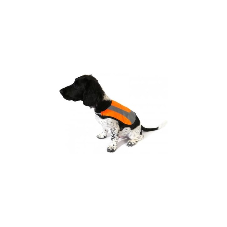 Rosewood Reflective Water Resistant Dog Vest Orange Small