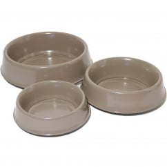 Stainless Steel Raised Dog Bowl Brown 10