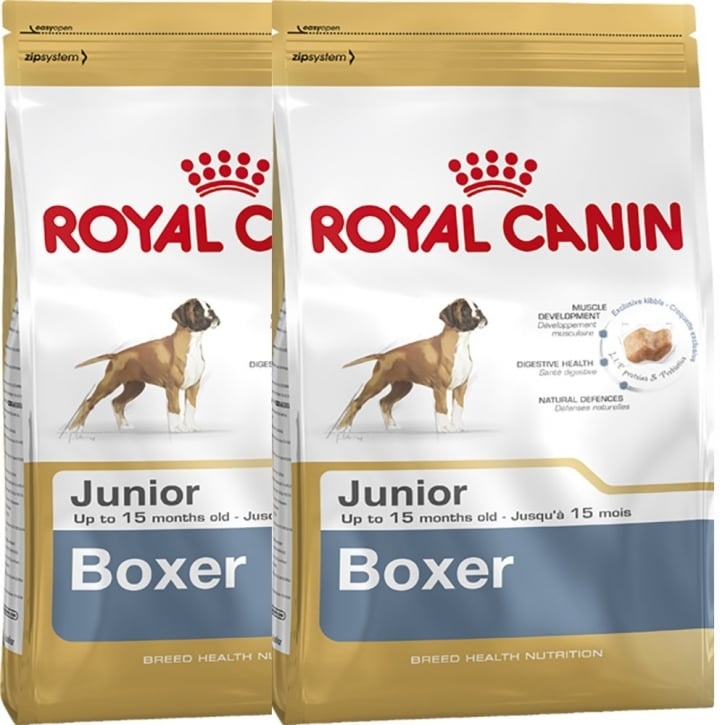 Royal Canin Boxer Junior Dog Food 2 x 12kg Twin Offer