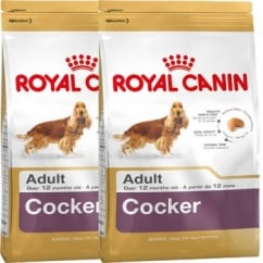 Royal Canin Cocker Spaniel Adult Dog Food 2 x 12kg Twin Offer
