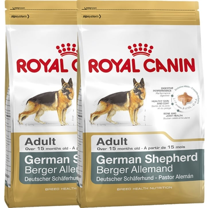 Royal Canin German Shepherd Adult Dog Food 2 x 12kg Twin Offer
