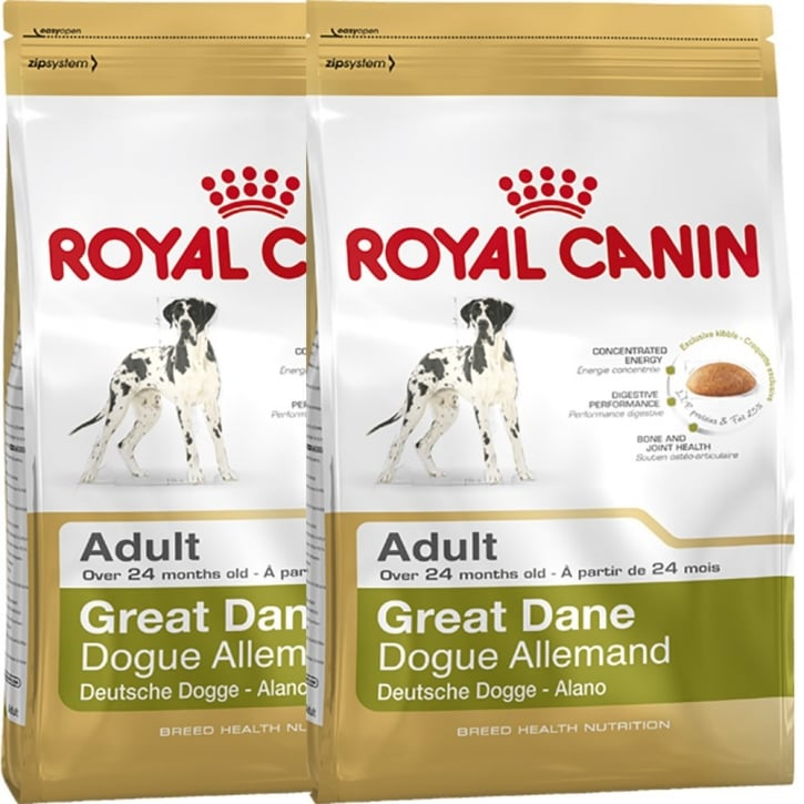 Royal Canin Great Dane Adult Dog Food 2 x 12kg Twin Offer