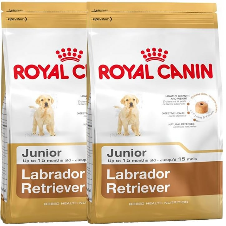 Royal Canin Labrador Retriever Junior Dog Food 2 X 12kg Twin Offer