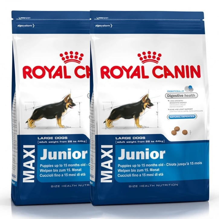 royal canin maxi junior dog food 2 x 15kg feedem. Black Bedroom Furniture Sets. Home Design Ideas