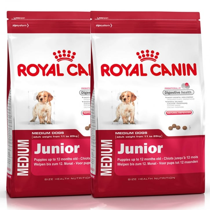 Royal Canin Medium Junior Dog Food 2 x 15kg