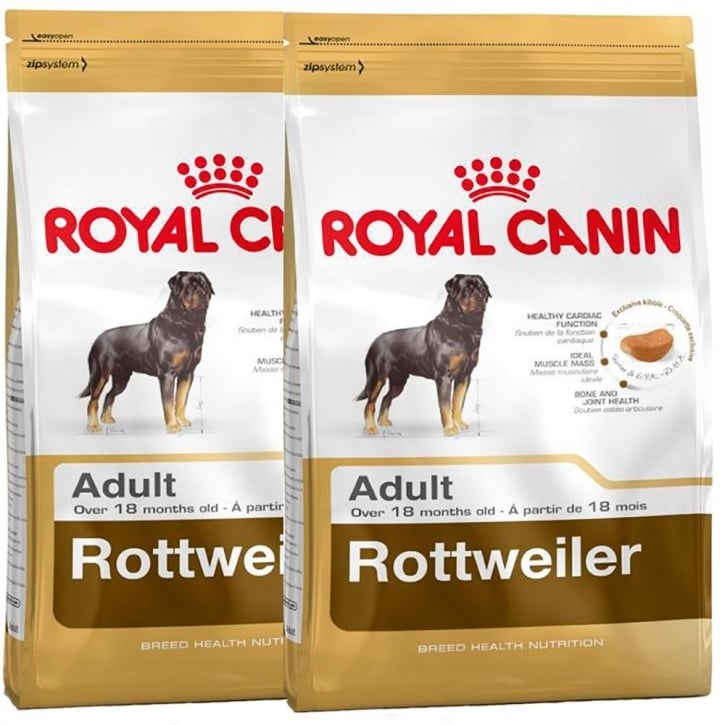 Royal Canin Rottweiler Adult Dog Food 2 x 12kg Twin Offer