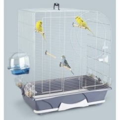 Savic Arte 50 Bird Cage - Silver & Blue