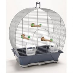 Savic Evelyne 30 Bird Cage - Silver & Blue