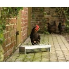 Savic Violet Poultry Zinc Plated Trough Feeder 48x13x16cm