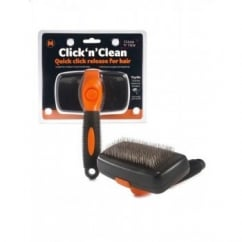 Sharples 'N' Grant Click'n'Clean Dog Slicker Grooming Brush Medium