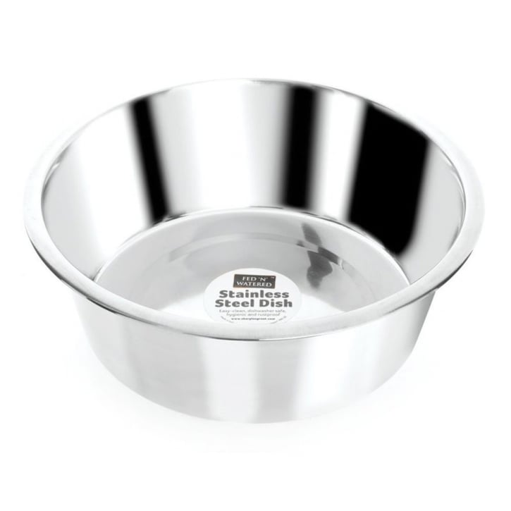 Sharples 'N' Grant Fed 'N' Watered Stainless Steel Standard Feeding Bowl 11cm diameter