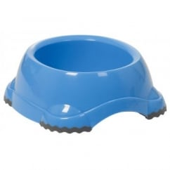 Fed'n'watered Smarty Fun Plastic Dog Bowl 12cm - Blue