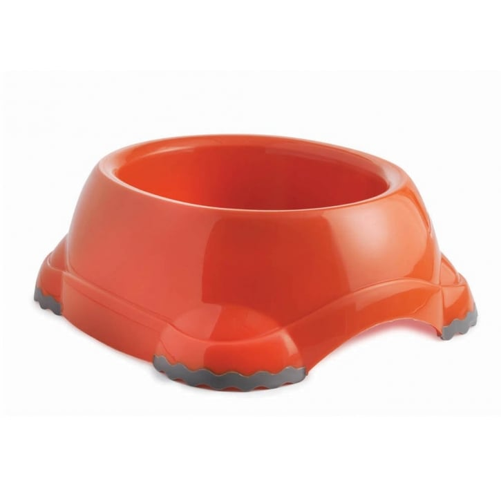 Sharples 'N' Grant Fed'n'watered Smarty Fun Plastic Dog Bowl 12cm - Orange