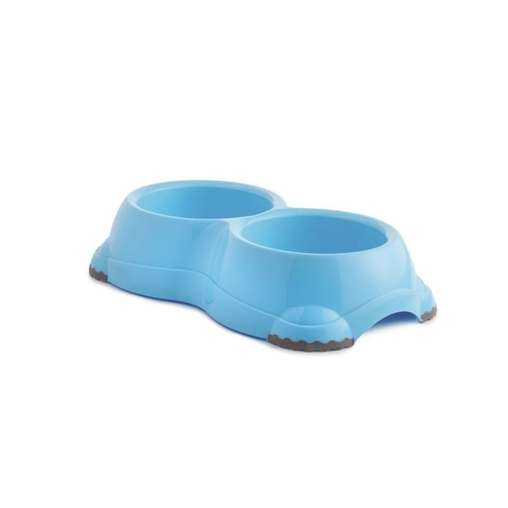 Sharples 'N' Grant Fed'n'watered Twin Smarty Plastic Dog Bowl 2 X11cm