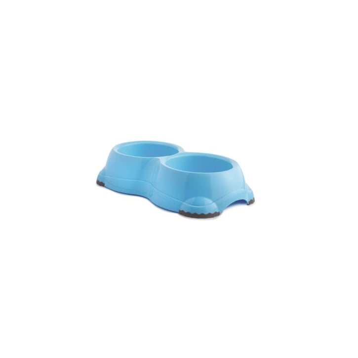 Sharples 'N' Grant Fed'n'watered Twin Smarty Plastic Dog Bowl 2 X14cm