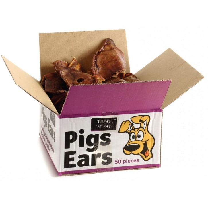 Sharples 'N' Grant Pigs Ears Dog Treat Box Approx 50