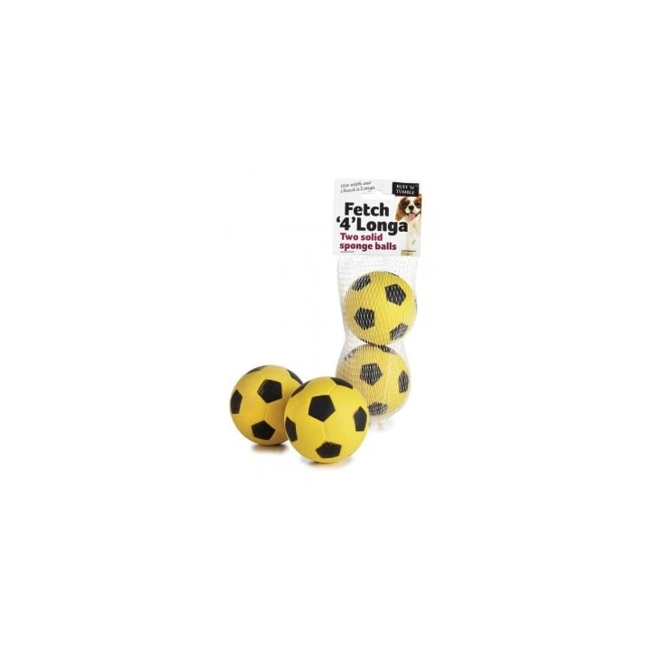 Sharples 'N' Grant Ruff 'N' Tumble Fetch '4' Longa Solid Sponge Balls 2 pack