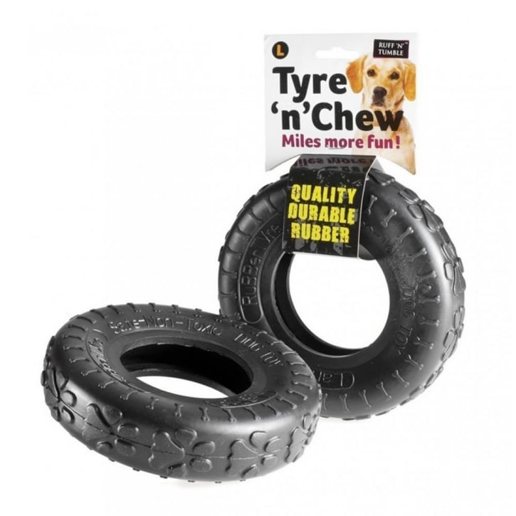 Sharples 'N' Grant Ruff 'N' Tumble Tyre 'N' Chew Dog Toy Large 18cm